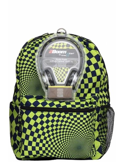 """AmericanKids Backpack """"Hypnocheck Lime"""" + headphones - Product Comparison"""