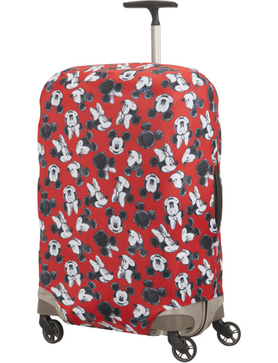 Travel Accessories Luggage Cover M/L - Spinner 69cm Mickey/Minnie Red - Accessories