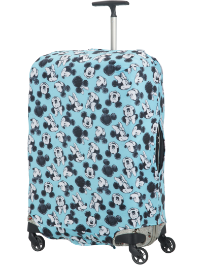 Travel Accessories Luggage Cover M/L - Spinner 86cm Mickey/Minnie Blue - Travel accessories