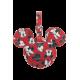 ID Tag Mickey/Minnie Red - Travel pillow