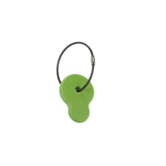 Luggage Tags Green - Luggage cover including address labels