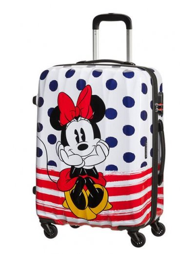 AT Spinner 4 wheels Disney Legends 65 cm Minnie Blue Dots  - Disney Legends