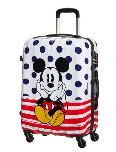 AT Spinner 4 wheels Disney Legends 65 cm Mickey Blue Dots  - Product Comparison