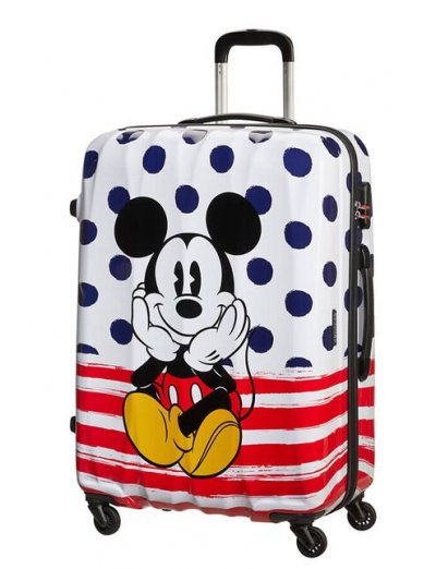 AT Spinner 4 wheels Disney Legends 75 cm Mickey Blue Dots  - Product Comparison