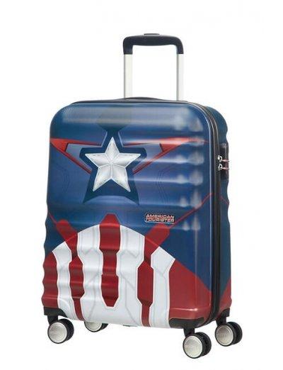 АТ 4-wheel 55cm Spinner suitcase Wavebreaker Captain America Close-Up - Kids' suitcases