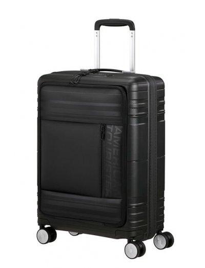 American Tourister Hello Cabin Spinner (4 wheels) 55cm Onyx Black  - Hello Cabin