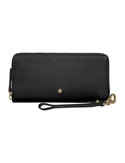 Wavy Slg Wallet L Black - Ladies' leather wallets