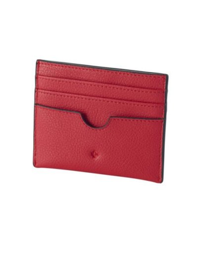 Sphinx Credit Card Holder Red - Ladies' leather wallets