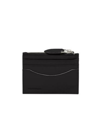 Leathy Slg 6cc Holder+ZC  Black - Ladies' leather wallets