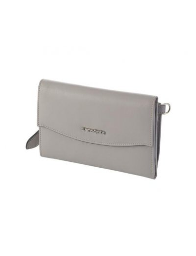 Leathy Slg stylish wallet from 100% leather Stone Grey - Ladies' leather wallets