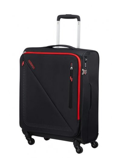 Lite Volt Spinner (4 wheels) 55cm Black/Red - Softside suitcases