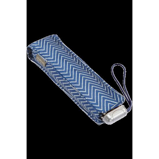 Alu Drop S TM  3 Sect. Manual Geometric Blue Print - Ladies umbrella