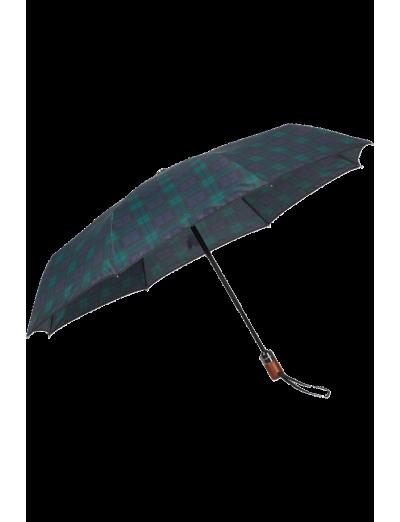 Wood Classic S 3 Sect. Auto O/C Short - Blue/Green Scottish - Umbrellas