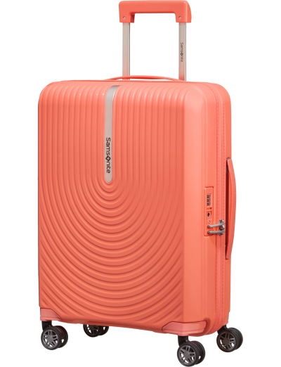 Hi-Fi Spinner (4 wheels) 55cm Exp. Bright coral - Hand luggage/cabin