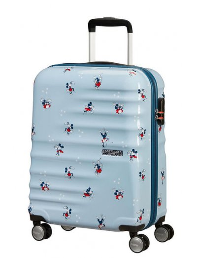 АТ 4-wheel 55cm Spinner suitcase Wavebreaker Minnie Darling Blue  - Product Comparison