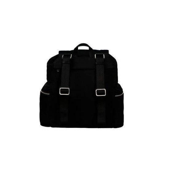 Karissa Backpack 1 front pocket & 2 side pockets Black