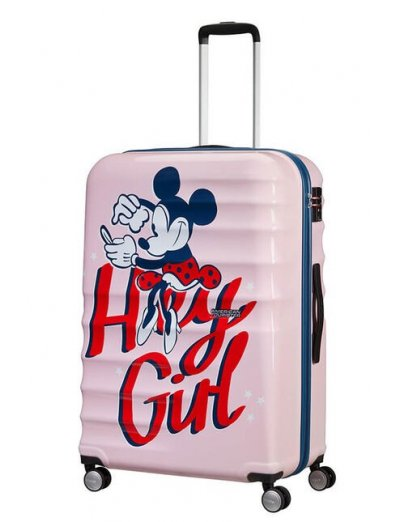 АТ 4-wheel 77cm Spinner suitcase Wavebreaker MINNIE DARLING PINK - Large suitcases