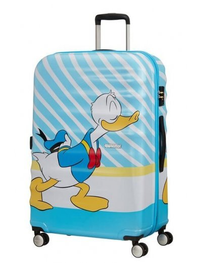 АТ 4-wheel 77cm Spinner suitcase Wavebreaker DONALD BLUE KISS - Product Comparison