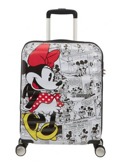 АТ 4-wheel 55cm Spinner suitcase Wavebreaker MINNIE COMICS WHITE - Hardside suitcases