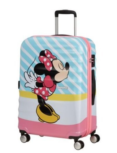 АТ 4-wheel 67cm Spinner suitcase Wavebreaker MINNIE PINK KISS - Product Comparison