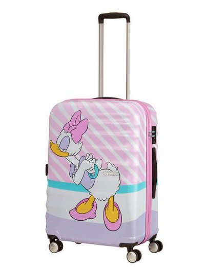 АТ 4-wheel 67cm Spinner suitcase Wavebreaker DAISY PINK KISS - On 4 wheels /Spinner/