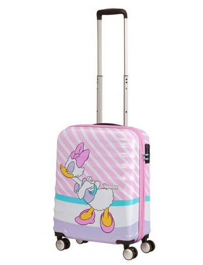 АТ 4-wheel 55cm Spinner suitcase Wavebreaker DAISY PINK KISS - Kids' suitcases