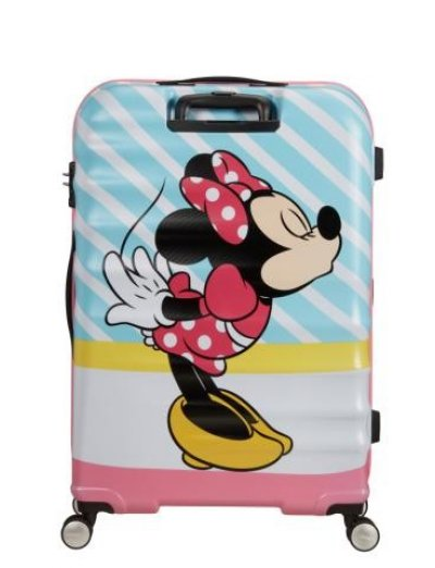 АТ 4-wheel 77cm Spinner suitcase Wavebreaker MINNIE PINK KISS - Product Comparison