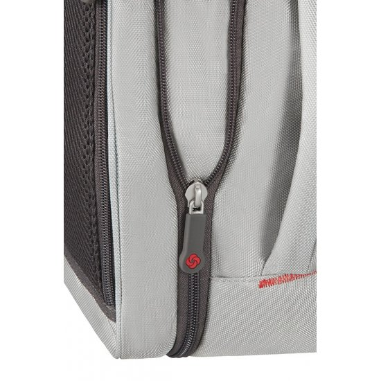 4Mation 3-Way Shoulder Bag Expandable Silver/Red