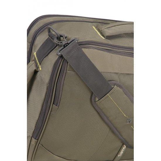 4Mation 3-Way Shoulder Bag Expandable Olive/Yellow