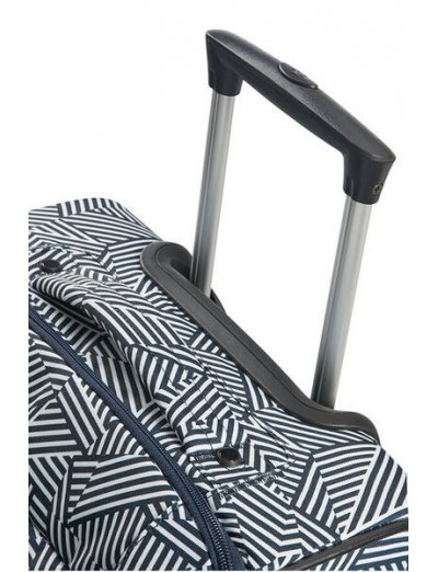 Rewind Duffle with wheels 68cm Navy Blue Stripes - Duffles