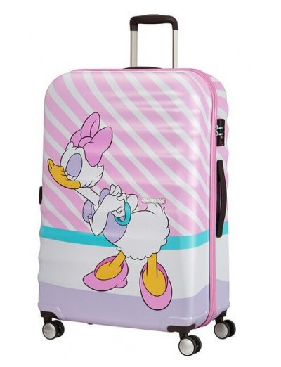 АТ 4-wheel 77cm Spinner suitcase Wavebreaker DAISY PINK KISS - Hardside suitcases