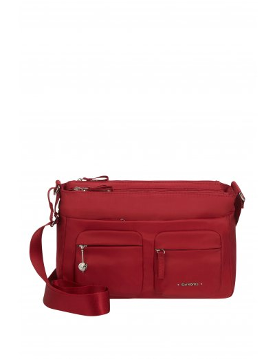 Move 3.0 Horizontal Shoulder Bag + Flap Dark Red - Bags