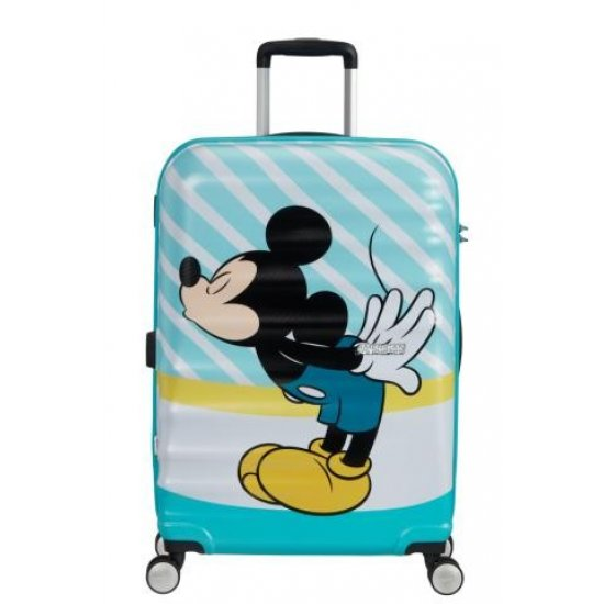 АТ 4-wheel 67cm Spinner suitcase Wavebreaker MICKEY BLUE KISS