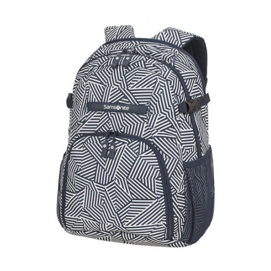 Rewind Laptop Backpack M 15.6inch Navy Blue Stripes
