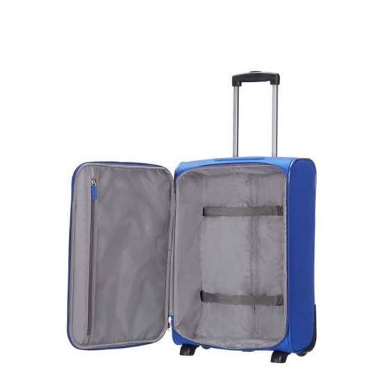American Tourister blue suitcase for cabin luggage AT Toulouse, 55 cm.