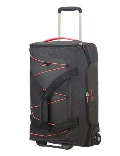 Road Quest Duffle with Wheels 55 cm Graphite/Pink - Softside suitcases