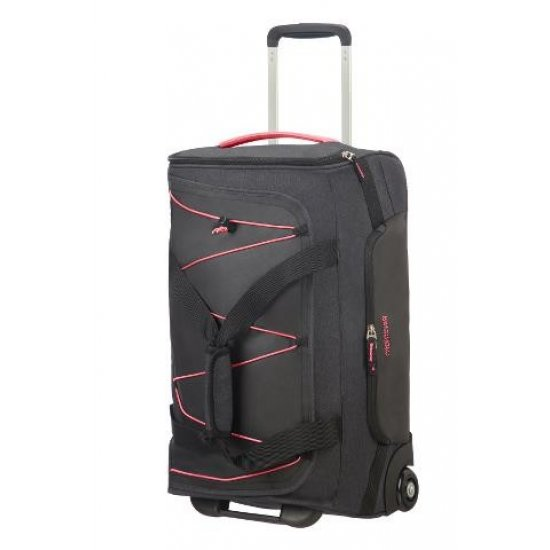 Road Quest Duffle with Wheels 55 cm Graphite/Pink