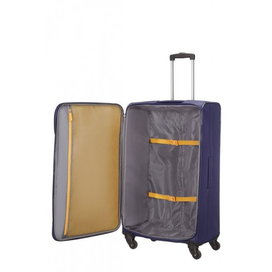 San Francisco 4-wheel 79cm large Spinner suitcase Blue