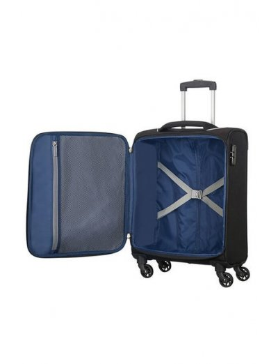 Holiday Heat 4-wheel cabin baggage Spinner 55cm Black - Softside suitcases