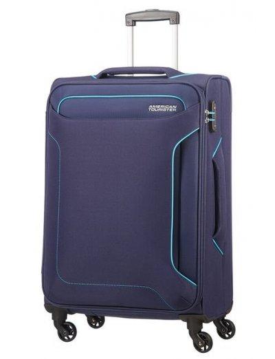 Holiday Heat 4-wheel cabin baggage Spinner 67cm Navy - Softside suitcases
