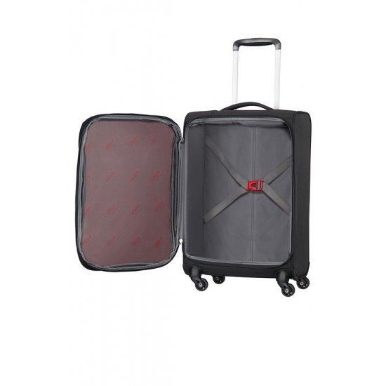Litewing 4-wheel Spinner suitcase 35cm width Exp. Volcanic Black