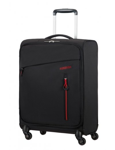Litewing 4-wheel Spinner suitcase 55cm Volcanic Black - Softside collection