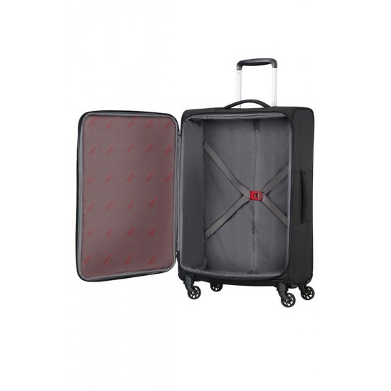 Litewing 4-wheel Spinner suitcase 70cm Volcanic Black