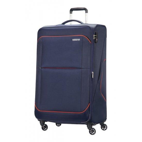Sunbeam 4-wheel 79cm large Spinner Expandable suitcase Blue