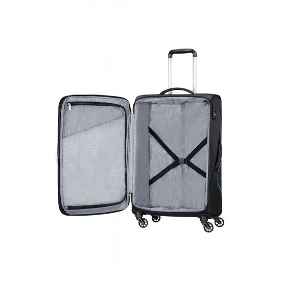 Sunbeam 4-wheel 79cm large Spinner Expandable suitcase Black