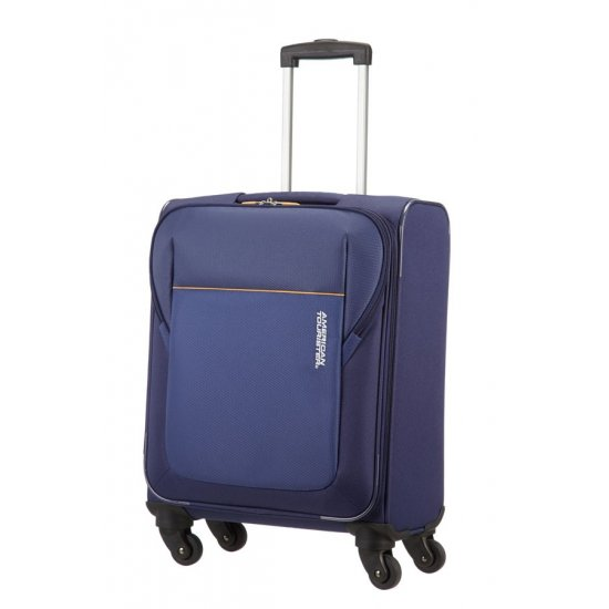 San Francisco 4-wheel cabin baggage Spinner suitcase 55x40x20cm Blue