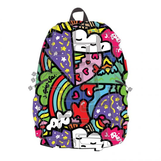 "AmericanKids Backpack ""Blok Full Artipacks Heart 2 Heart"" Available after 18.09.2017"