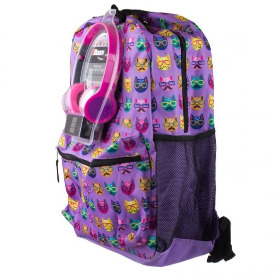 "AmericanKids  Backpack ""Cats"" + headphones"