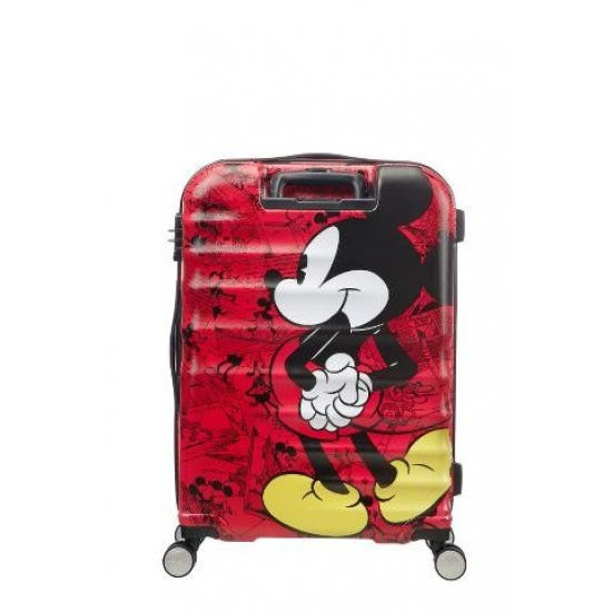 АТ 4-wheel 67cm Spinner suitcase Wavebreaker Mickey Comics Red