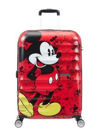 АТ 4-wheel 67cm Spinner suitcase Wavebreaker Mickey Comics Red - Product Comparison